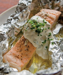 Dishwasher Roasted Salmon in Foil